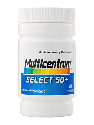 Multicentrum select 50+ 60 comprimidos