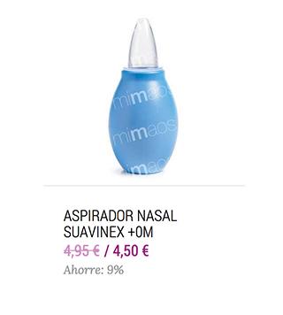 aspirador nasal suavinex para aliviar la congestión nasal