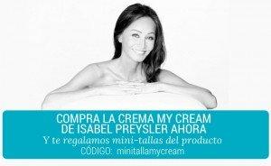 muestras gratis crema Isabel Preysler