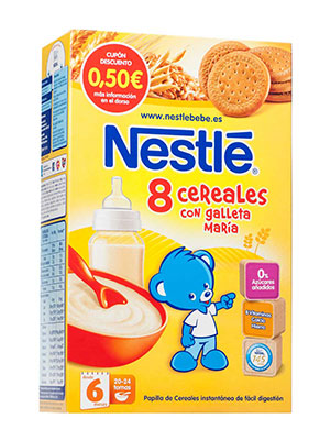 Nestle papilla 8 cereales galleta maria 600 gr