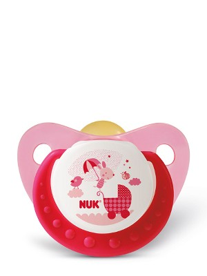 Nuk chupete de látex cotton party rosa t1