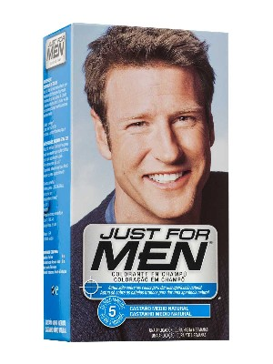 Just for men champu colorante 30 cc castaño medio