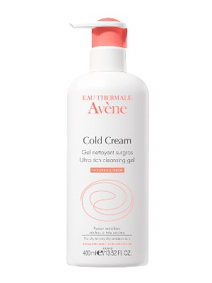 Gel limpiador al cold cream avène, 400 ml