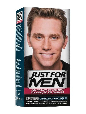 Just for men champu color 30 cc castaño claro