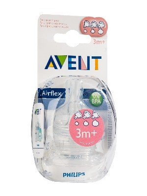 Avent 2 tetinas flujo variable +3m