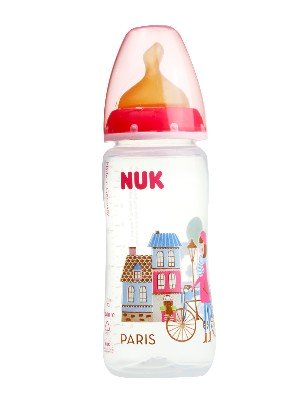 Nuk biberon travel latex  t1 300ml