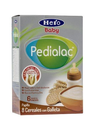 Hero baby ® papilla 8 cereales con galleta
