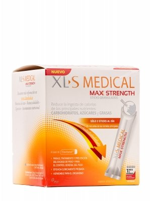 Xls medical max strength 60 sticks granulados.