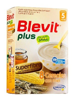 Blevit plus superfibra 8 cereales y miel 300 g