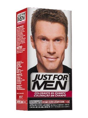 Just for men champu color 30 cc castaño oscuro