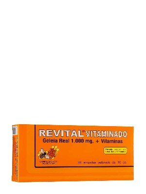 Revital jalea real vitaminado 1000 mg , 20 amp