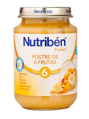 Nutriben junior postre de 6 frutas 200 gr