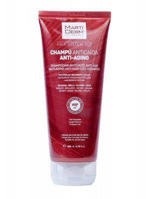 Champú anticaída  hair system 3 gf antiaging 200 ml martiderm