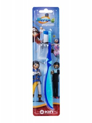 Cepillo dental infantil kin super 4 de playmobil