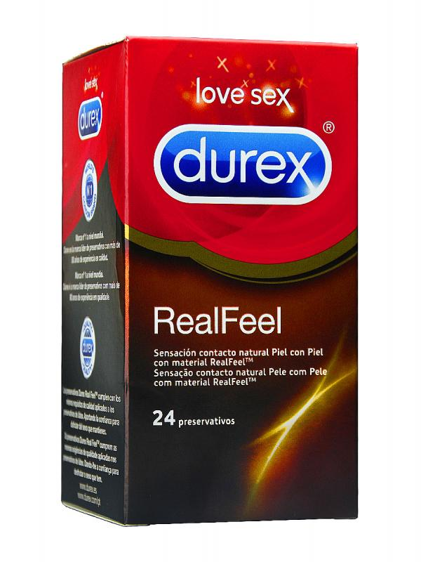 Preservativos sin latex real feel 24 unid de durex